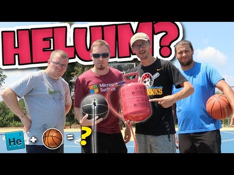 What Happens if You Fill a BASKETBALL With HELIUM?? DOES IT MAKE A DIFFERENCE??