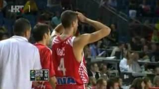Srbija - Hrvatska 73:72 HRT komentator 2010