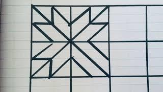 رسم زخرفة هندسية بطريقة سهلة جدا رقم 194 Youtube
