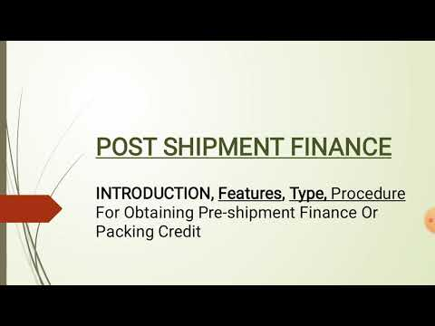Post Shipment Finance | FULL NOTES | Export Finance | HINDI EXPLAINED