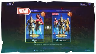 Buying Season 9 Battle Pass + 950 V Bucks In Fortnite: Battle Royale