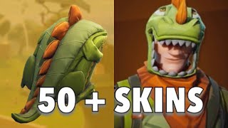 SCALY BACKBLING ON ALL MY SKINS | REX OUTFIT | Fortnite Battle Royale
