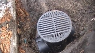 Clean this Drain - Save 1000's. French Drain, Downspout Drain Line - How To Clean, DIY
