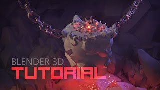 [Tutorial] Modeling 3d Underground Boss Arena | Low Poly 3d Illustration | Cartoon 3d Boss Arena