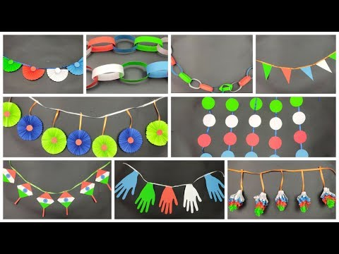 Independence Day Decoration Ideas/Easy Independence Day Craft/DIY Tricolour Paper wall Hanging