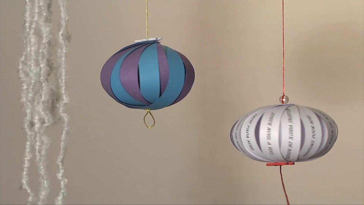 Noel deco christmas decoration boule ventail diy - Decoration boule de noel en polystyrene ...