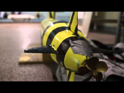 "Australian Maritime College + GOPRO + Naval Architecture + ""Bumble-bee??"" Submarine Project 2014"