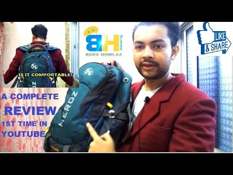 45L HEROZ HAMMER Backpack Complete Review 1st Time In Youtube | A Touring Backpack In Details Review