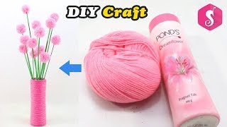 Best Out Of Waste PONDS POWDER BOX | Easy WOOLEN Craft Idea | Home Decor 2018