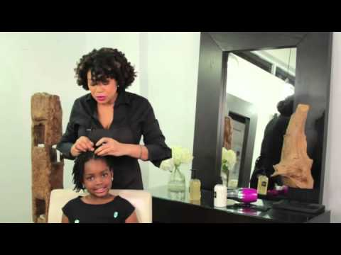 How To Do Bantu Knots On Natural Little Black Girls Hair Youtube