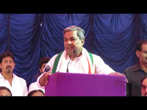 CM Siddaramaiah's Speech at the Demonetisation Protest at Freedom Park.