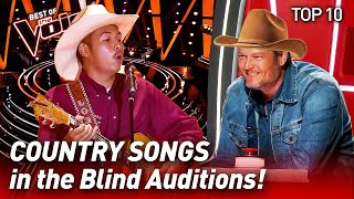 TOP 10 | COUNTRY SONGS that make The Voice CHAIRS spin like ...