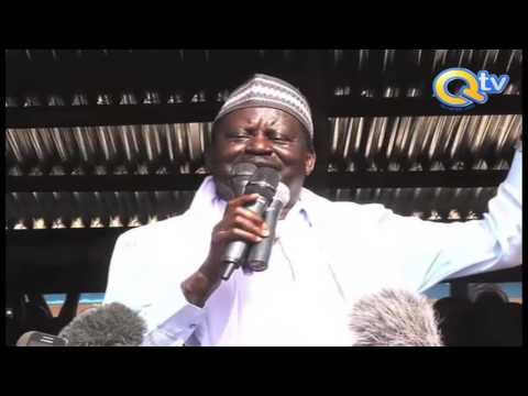 Raila Odinga azuru Kaskazini Mashariki