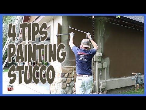 4 Secret Painting Tips To Paint Stucco