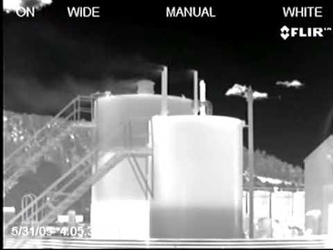 Caméras thermiques pour la détection de fuite de gaz - réservoirs