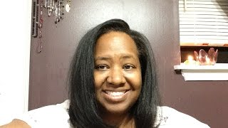 I Flatironed Straightened My Hair & Me Running My Mouth LOL ~ 3 Weeks Post Relaxer PERM TEXLAX