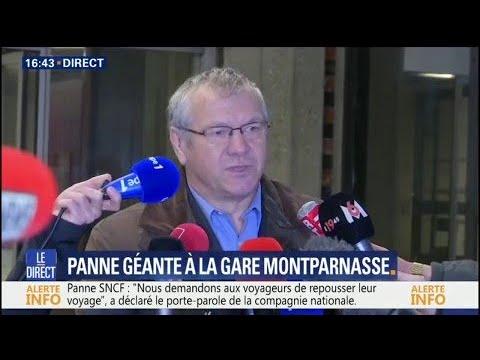 """Panne géante à la gare Montparnasse: la SNCF parle d'un """"bug informatique"""" après des travaux"""