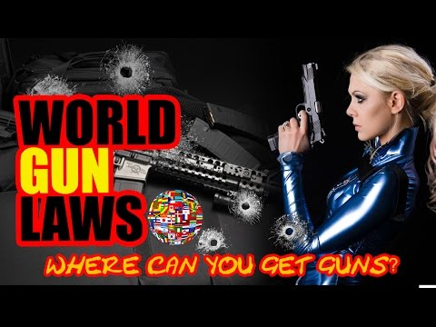 Gun Laws in America and Around the World. Where can you own guns and firearms? Canada, USA, UK,
