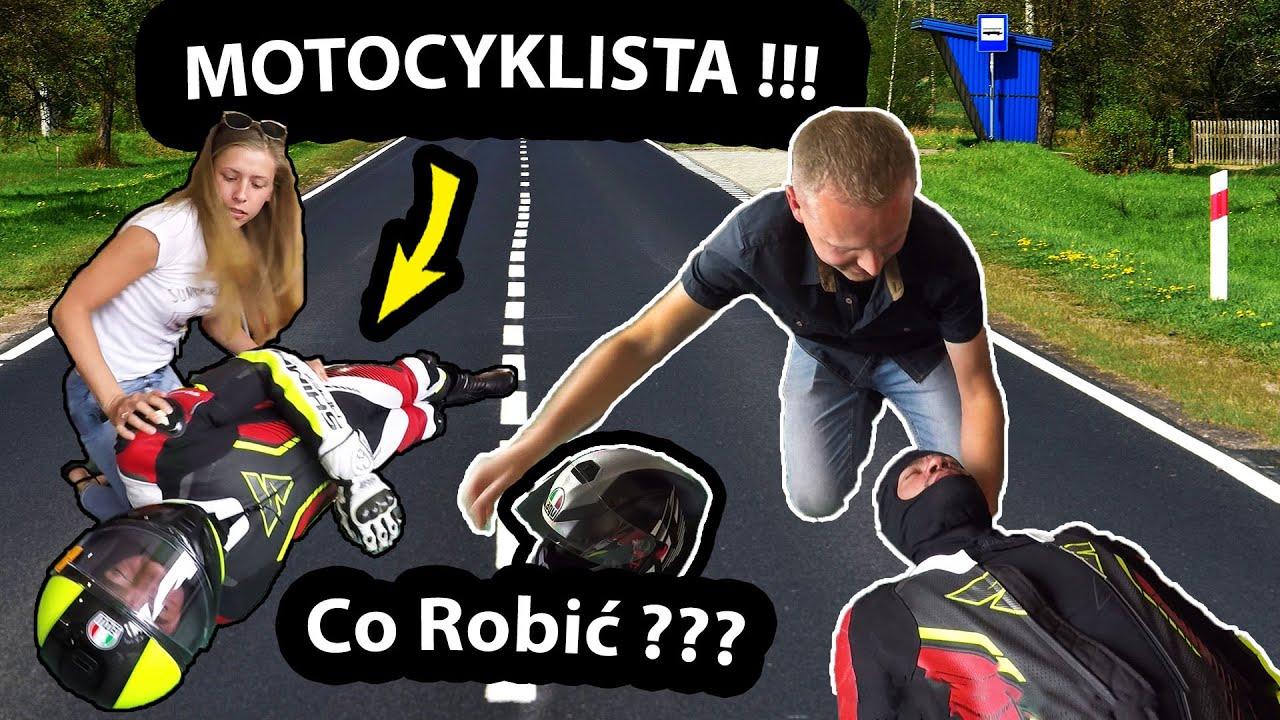 Ratujemy Motocyklistę po Wypadku !!! - Rozcinamy Kombinezon i Kask! - Szkolenie z Pierwszej Pomocy