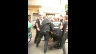 Polizeigewalt in Berlin #Ohlauer 27.6.2014