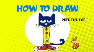 How to draw Pete the Cat - STEP BY STEP GUIDE - ART LESSONS