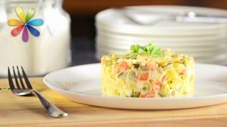 Побалуйте семью любимым салатом «Оливье»! Пошаговый рецепт