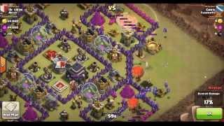 Clash of Clans TH8 vs TH9 (Anti-Hog): Balloonion 2-Star Clan Wars Attack (Chris)