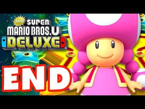 New Super Mario Bros U Deluxe - Gameplay Walkthrough Part 9 - Superstar Road 100%! (Nintendo Switch)