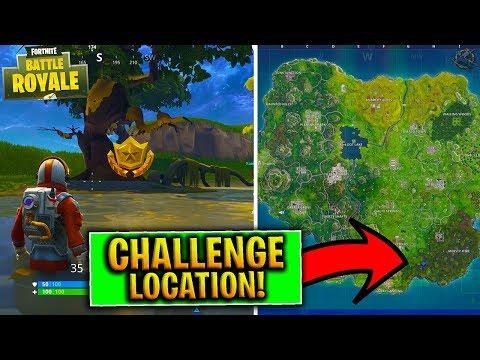 Fortnite TREASURE MAP Riddle Challenge