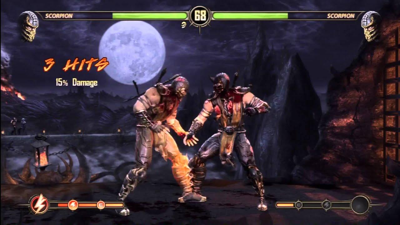 Mortal kombat 9 scorpion get over here demo youtube