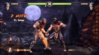 Mortal Kombat 9 Scorpion GET OVER HERE (DEMO)