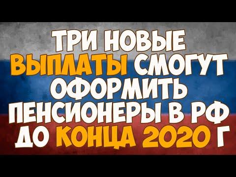 Три новые выплаты смогут оформить пенсионеры в РФ до конца 2020 года