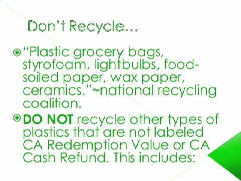 Recycling Animation/Do's and Dont's Videos De Viajes