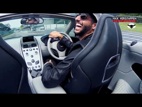 Hilarious caravan race between Max Verstappen and Daniel Ricciardo