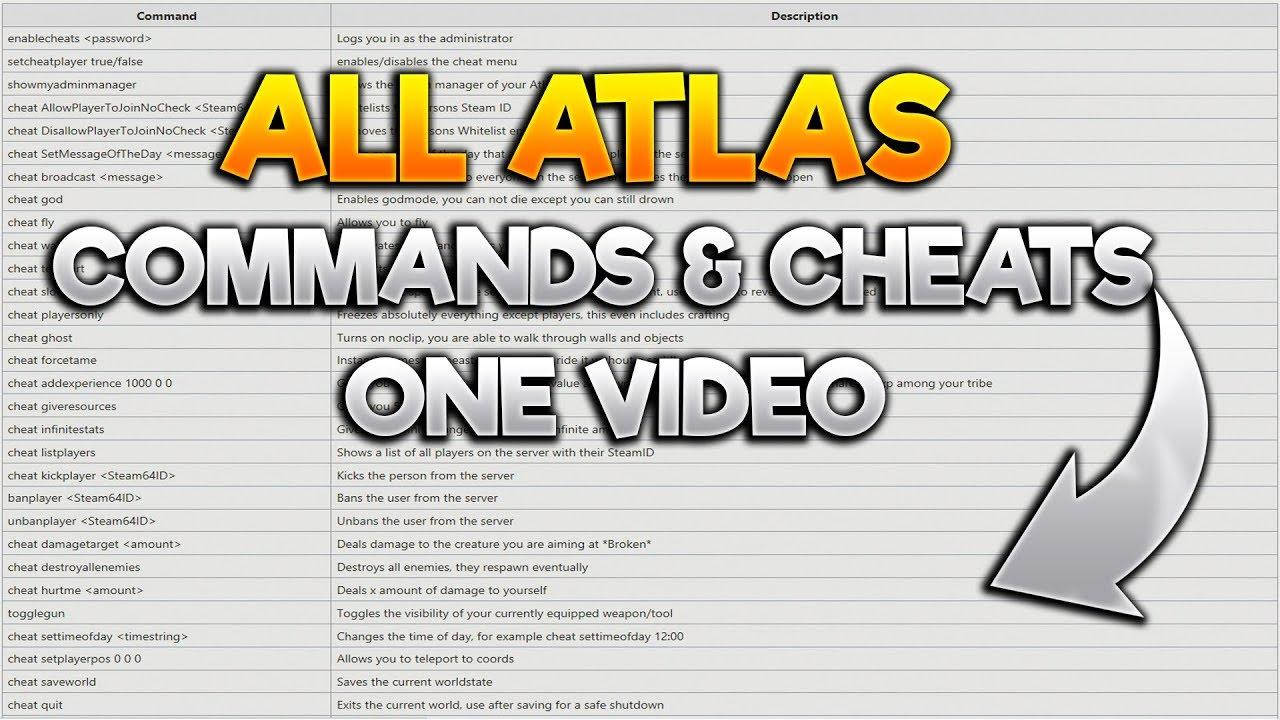 ATLAS: ALL ATLAS COMMANDS & CHEATS IN EINEM VIDEO!! NO ANIMALS!