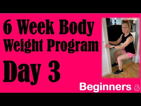 at home body weight workout for beginners no equipment
