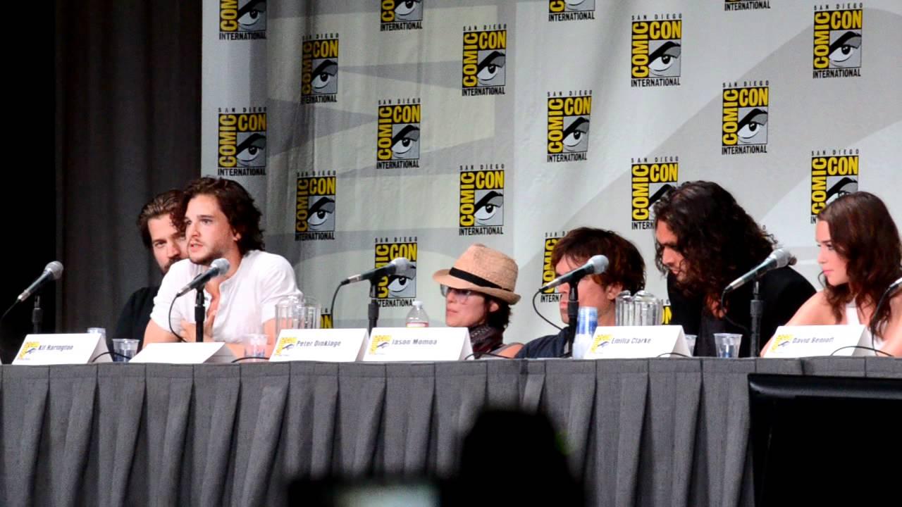 Kit Harington on Jon Snow's Upcoming Journey @ San Diego ...