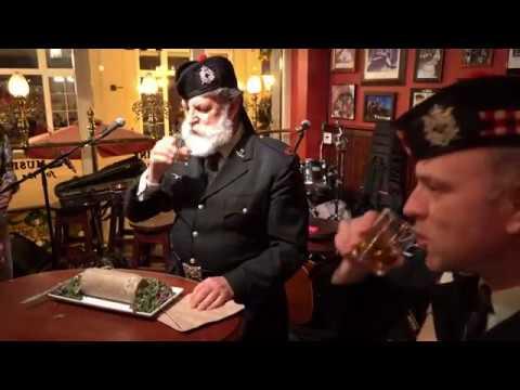 Canadian Scottish Regiment - Address To A Haggis At The Irish Times   2019 01 25