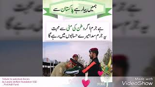 tribute to all pakistani forces
