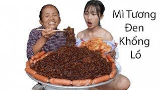 Bà Tân Vlog - Làm Đĩa Mì Tương Đen Hàn Quốc Siêu Cay Khổng Lồ