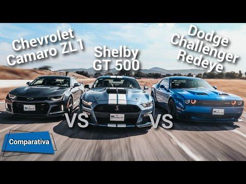 Ford Mustang Shelby GT500 VS Dodge Challenger Hellcat Redeye VS Chevrolet Camaro ZL1| Autocosmos