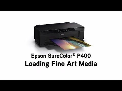 Epson SureColor P400   How to Load Fine Art Paper
