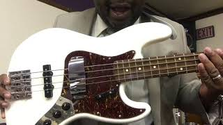 """The Retro Man"" 1969 Fender (Squier) Jazz Bass"
