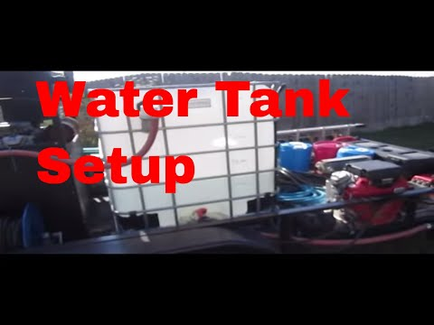 Buffer/Float water tank used in Pressure Washing