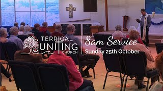 8am Service: Sunday 25th October