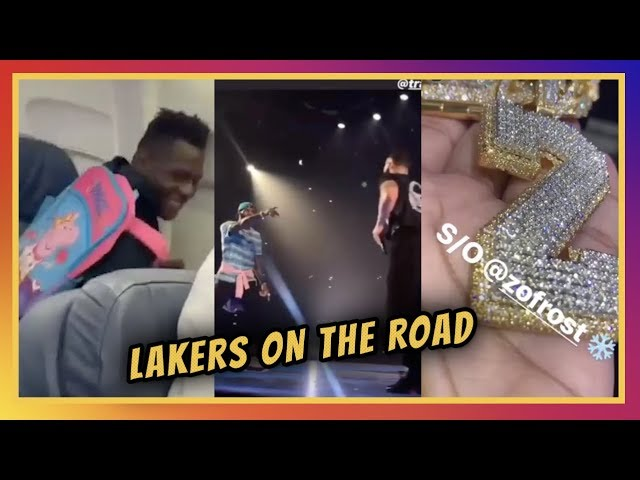 ln-ig-stories-lakers-head-to-vegas-rookie-backpacks-lonzo-and-lebron-catch-drake-at-staples