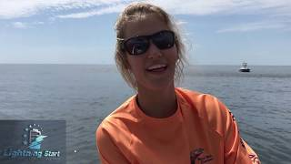Girl Fishing Screams at Boyfriend to Help her Catch Big Fish
