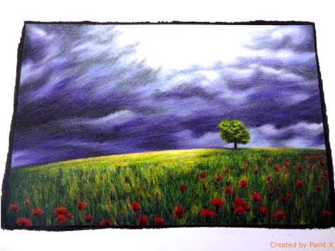 BEAUTIFUL NATURE grayscale | Ominous Sky Part 2 | color TUTORIAL | Prismacolor