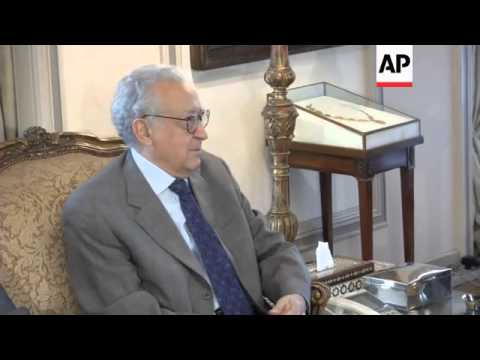 UN envoy on Syria meets Egyptian foreign minister