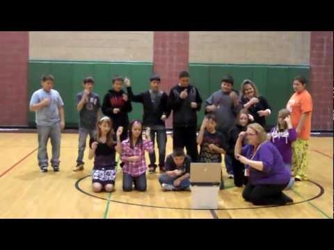 Turtle Mountain Middle School -  Fireflies Sign Song
